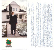 Robert Courtney Hahnen Sr card to Mary L Keating Daniels 1995