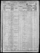 1870 United States census with Charles Frederick Lindauer I (1836-1921) as Chas. Linder living at 147 Thompson Street in Manhattan