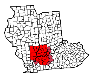 Illinois-Indiana-Kentucky Tri-State Area imposed over WTVW Viewing Area Map-2