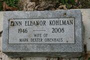 Lynn Eleanor Kohlman tombstone