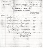 Lindauer-Eloise 1935 funeral bill
