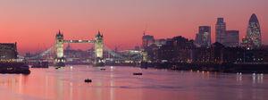London Thames Sunset panorama - Feb 2008