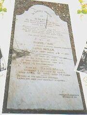 David mills grave stone