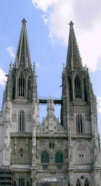 Regensburg cathedral front