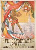 1920 olympics poster