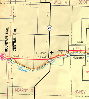 Map of Kearny Co, Ks, USA