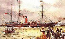 RMS Britannia 1840 paddlewheel