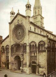 Modena Cathedral facade