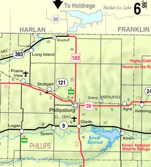 Map of Phillips Co, Ks, USA