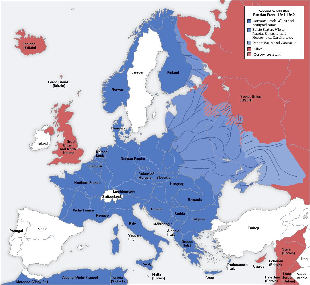 Image - Second world war europe 1941-1942 map en.png | Familypedia ...