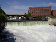 Monroe Street Dam on Spokane River