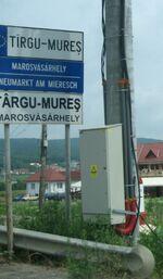 Nameplate of Marosvásárhely cropped