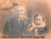 William Edward Baglin and son Edward William Burgess Baglin