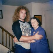 Dorothy Ina Stead with grandson Vincent R. Atkins II in 1987