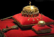 Crown, Sword and Globus Cruciger of Hungary2