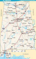 Map of Alabama terrain NA