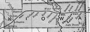 1898 kiowa county map