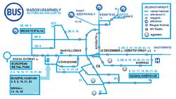 Marosvásárhely bus map