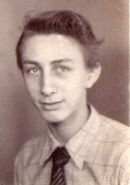 Richard Charles Freudenberg II in 1946 high school yearbook