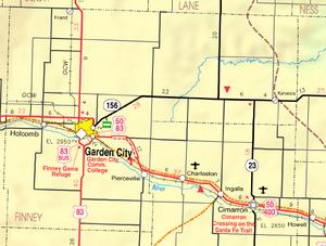 Map of Finney Co, Ks, USA