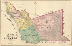 Map of Alameda County 1878 LARGE
