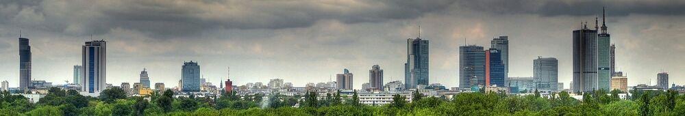 Warszawa-skyline-pole mokotowskie