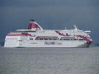 Baltic Princess leaving Tallinn