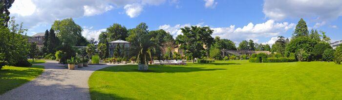 Karlsruhe Orangerie garden panorama
