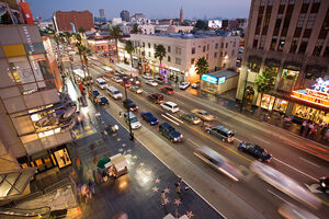 Hollywood boulevard from kodak theatre