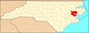North Carolina Map Highlighting Beaufort County.PNG