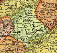 Botetourt County Virginia 1895