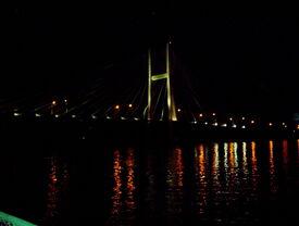 Burlington, Iowa Riverfront at Night