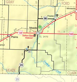 Map of Meade Co, Ks, USA