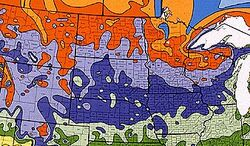 USDA North-Midwest Climate zones