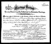 Gogerty Jensen 1917 marriage