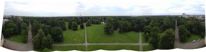 Karlsruher Schloss 180 degrees south panorama
