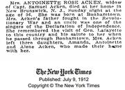 Rose-Antoinette 1912 death