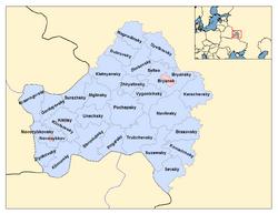 Bryansk admin divisions