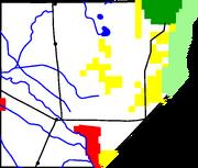 Map of Alamosa County, Colorado