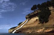 Pictured Rocks Bridalveil Falls