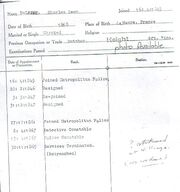 Charles delaine police service record