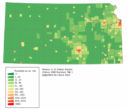 Kansas population map