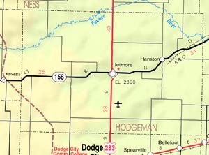 Map of Hodgeman Co, Ks, USA