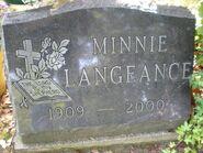 Minnie Langeance headstone