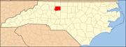 North Carolina Map Highlighting Forsyth County.PNG