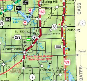 Map of Miami Co, Ks, USA