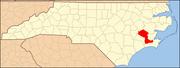 North Carolina Map Highlighting Craven County.PNG