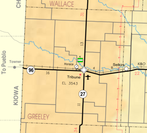 Map of Greeley Co, Ks, USA