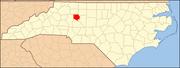 North Carolina Map Highlighting Davie County.PNG