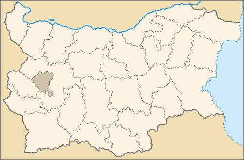 Bulgaria Provinces Map Blank